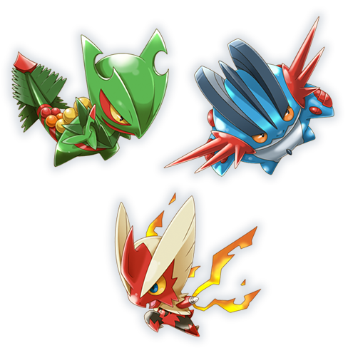 Pokemon Rumble World apparaît ! Méga-Braségali%2C_Méga-Laggron_et_Méga-Jungko_PRW