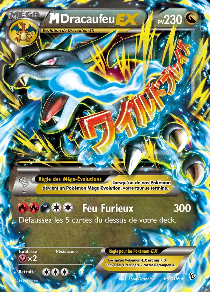 M dracaufeu ex xy tincelles 69 pok p dia - Les mega evolution pokemon x et y ...
