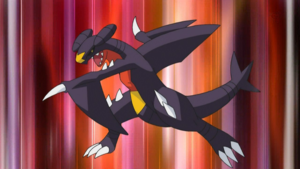 le carchacrok de cynthia - Pokemon Carchacrok