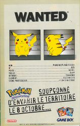Pub Pokemon Bleu Rouge Mag. Pokemon 1 dos JDM n°2467.jpg