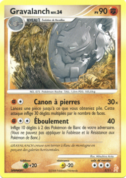 Gravalanch diamant perle kit dresseur lucario 2 pok p dia - Evolution pokemon diamant ...
