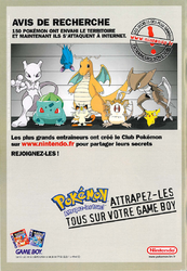 Pub Pokemon Rouge Bleu p2 journal de mickey 2478 15 decembre 1999.png