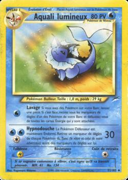 Aquali lumineux neo destiny 52 pok p dia - Carte pokemon aquali ...